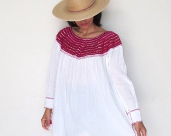 Vintage Mexican Tunic / Blouse