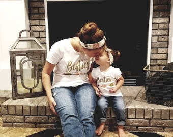 Besties, Best Friends, Friends Forever Shirts (Baby, Toddler, Kids and Adult Sizes)