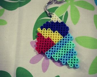 Rainbow Shave Ice key chain