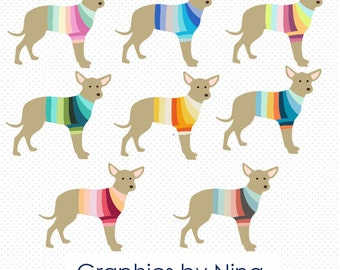INSTANT DOWNLOAD  Chihuahua Clipart  Scrapbook for Personal and Commercial Use