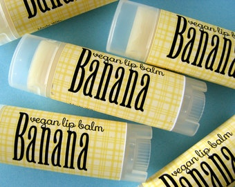 Banana Flavor - Vegan Lip Balm - Natural Lip Butter - Bath and Beauty - Home and Living - Bath and Body