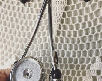 Custom Stethoscope ID Tag - Hand Stamped Name Identifier Tag - Aluminum - Personalized - Made in the USA - Great Graduation Gift!