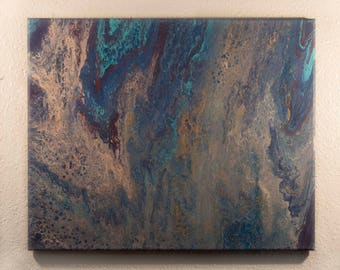 Abstract Painting. Wall Decor. Acrylic Painting. Decoration. Acrylic Pour Painting. Cut Stone
