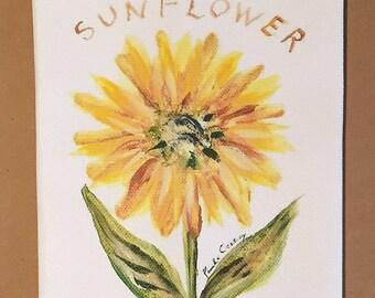 Sunflowers Cotton Huck Kitchen Towel