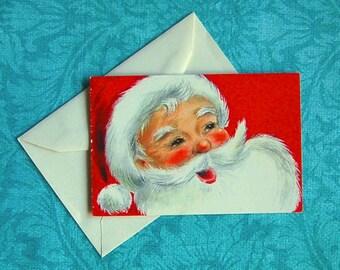 Vintage Santa Claus Unused Christmas Card, with Envelope  1940's -60's