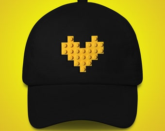 Black hat with yellow LEGO® heart
