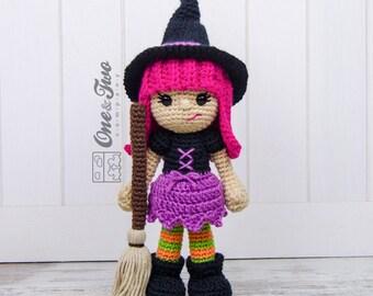 Willow the Witch Amigurumi - PDF Crochet Pattern - Instant Download - Amigurumi crochet Cuddy Stuff Plush