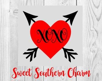 xoxo svg file - heart svg file - arrow svg file - valentine svg - valentine svg file - valentine svg files - valentines svg file - valentine