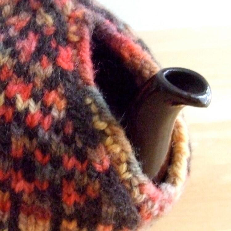 Knitting Pattern-Tree of Life Tea Cozy (spouted), Fair Isle knit tea ...