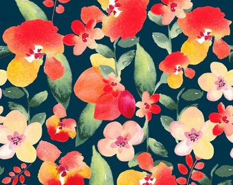 Midnight Floral fabric
