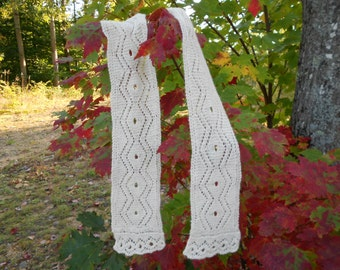 Damonds and Wnding Ribbons Lace Scarf