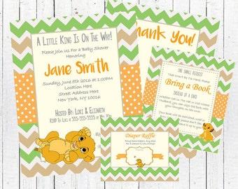 Lion king baby shower etsy lion king baby shower invitation card set pdf kit jpeg filmwisefo