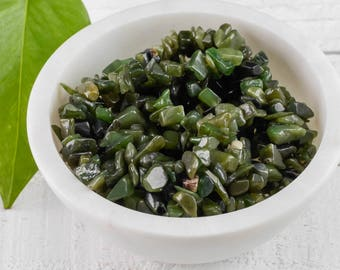"34"" NEPHRITE JADE Chip Necklace - Nephrite Jade Bead Necklace, Jade Jewelry, Jade Necklace, Healing Stone, Healing Crystal Jewelry E0813"