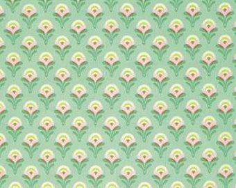 Heather Bailey Clementine 'Buttercup' in Jade Cotton Fabric