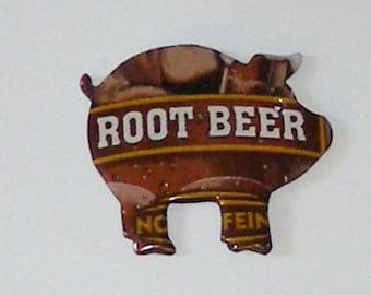Pig Magnet - MUG Root Beer Soda Can (Replica)