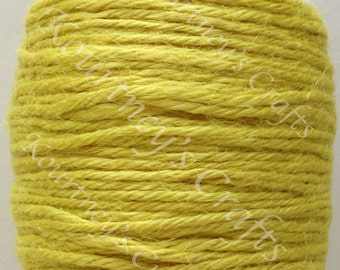 2mm Yellow Jute Twine Cord Non-Polished 2mm 100M/Roll (Approx. 109 Yard)