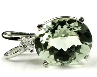 Green Amethyst(Prasiolite), 925 Sterling Silver Pendant, SP022