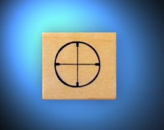 CROSSHAIRS Hunting / Shooting rubber stamp, scope sight, Sweet Grass Stamps No.14