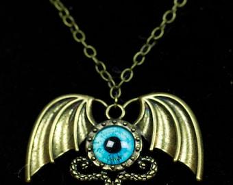 Eyeball Bat Wing Necklace