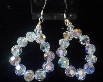 BEEutiful Swarovski Crystal Loop Wedding Earrings