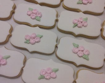 royal icing rosettes cookies