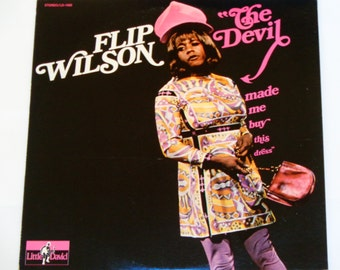 Flip Wilson - The Devil Made Me Buy This Dress - Little David Records 1970 - Comedy - Vintage Vinyl LP Record Album