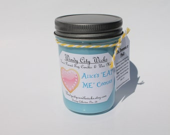 "Disney Themed Soy Candle- Alice's ""EAT ME"" Cookies"