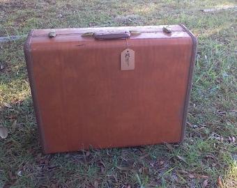 Mid Century Luggage, Overnight Bag, Retro Suitcase, Vintage Decor, Vintage Luggage