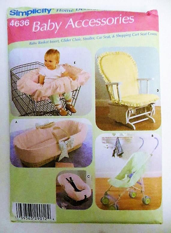 Baby-Zubehör Einfachheit 4636 Schnittmuster Baby-Korb legen