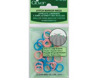 Stitch markers - rings to identify the location of chainmaille