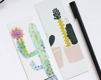 20 pieces cactus bookmark, bookmarks, paperclips