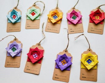 Origami gift tags x4