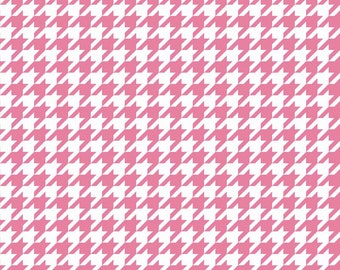 Houndstooth in Hot Pink (C970-70)