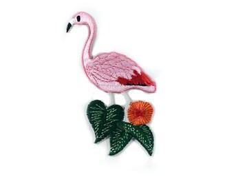 "Flamant rose #2 - correctif - Flamand Rose - oiseau rose Appliqué - DIY Shirt flamant rose - taille 3,5 ""x 2,5"" (P168)"