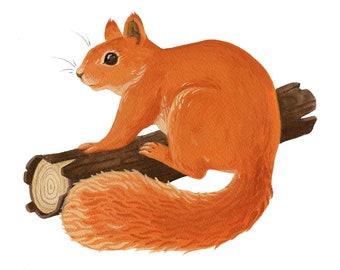 Original Fine Art Squirrel Painting Version 1