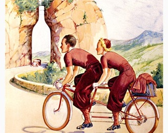 Byrrh Tandem Bicycle Poster (#1310) 6 sizes