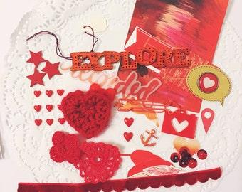 Embellishment Grab Bags: Red