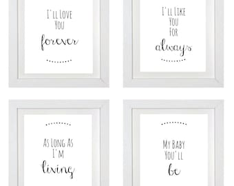 Love you Forever Set of 4 printables