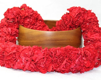 """Fresh Lei """"Double Carnation"""" Lei - Authentic shipped fresh from Honolulu! - Choose your delivery date!"""