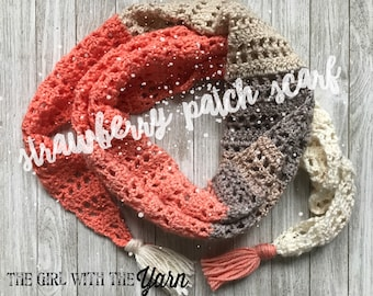 Strawberry Patch Convertible Scarf