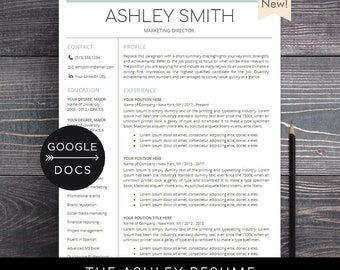 Google Docs Resume Template | Professional Resume CV Template + Free Cover  Letter | Creative,