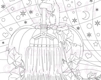 Adult Coloring Page, Fantasy Art, Coloring pages, Tinker, Digital Download, Coloring by Kristi