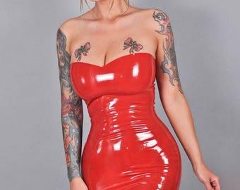 "Jessica Rabbit inspired cosplay latex dress ""Jess"""
