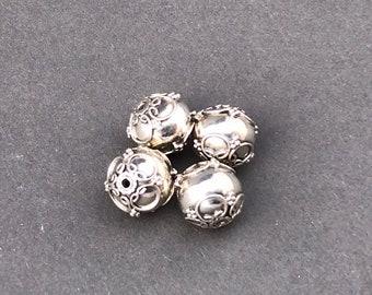 9 mm Silver Bali Bead Style B545