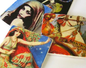 Cover Girls coasters (set of 4)