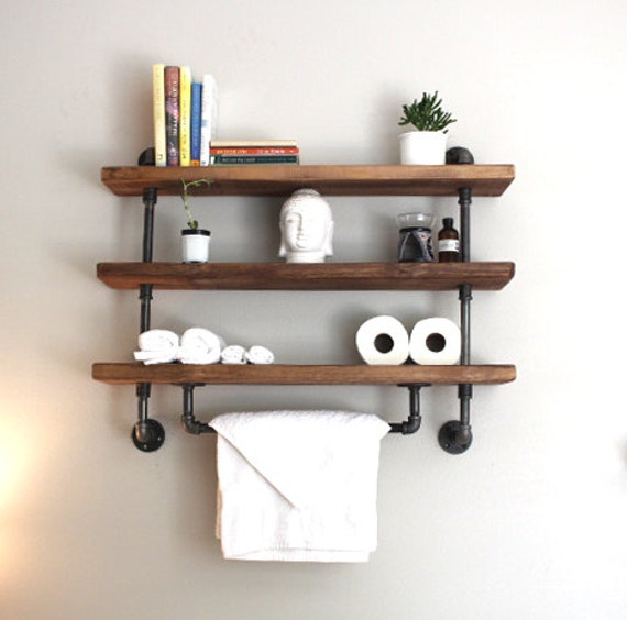 Superb Industrial Pipe Shelf, Bathroom Shelves, Kitchen Shelves, Shelving Unit,  Entryway Shelf, Storage Shelf, #ReclaimedWoodUSA