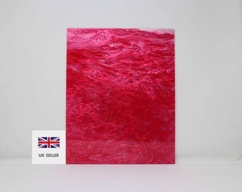 3mm Pink and white marble acrylic perspex with glitter 300x370mm