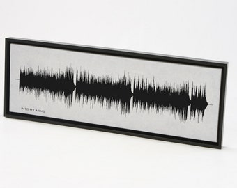 Into My Arms by Nick Cave - Sound Wave Wall Art Print Design