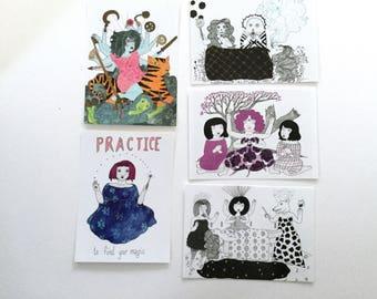 Scenes of Magick Postcards - set of 5