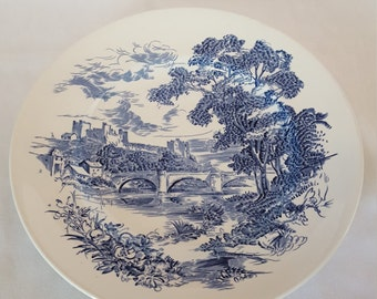 "Wedgwood (Enoch) ""Countryside Blue"" Dinner Plate 10"" ~ Vintage 1966-1968"